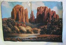 Cathedral Rock Sedona Arizona AZ Southwestern Art Tapestry Fabric Wall Hanging