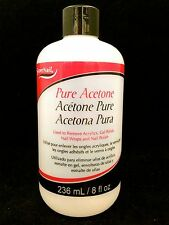 SUPERNAIL PURE ACETONE USED TO REMOVE ACRYLICS GEL POLISH WRAPS AND POLISH 8oz