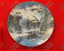 """Natures Legacy Series """"Winter Peace in Yellowstone Park"""" Plate - MIB COA"""