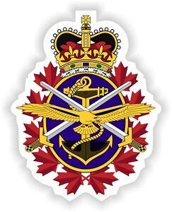 Canadian Forces emblem Canada Sticker bumper decal flag Autocollant car bike