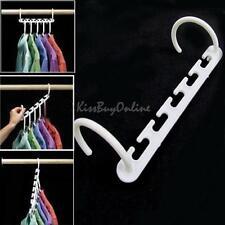 8pc Plastic Space Saver Wonder Magic Clothes Hanger Rack Clothing Hook Organizer