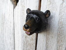 Black Bear Head Grizzly Brown Bear Knob Rustic Cabinet Drawer Pull Cabin Decor