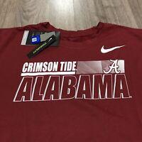 Nike Dri Fit Alabama Crimson Tide Sz XL Short Sleeve T-Shirt Polyester Red NWT