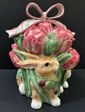 Retired  FITZ and FLOYD BLACKBERRY RABBIT Cookie Jar    ***** FREE SHIPPING*****