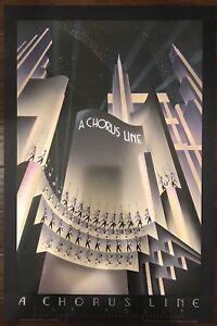 "Robert Hoppe ""A Chorus Line - The Movie"" - 1988 Authentic Lithograph Art Deco"