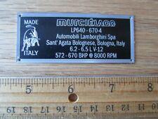 Lamborghini Murcielago LP 640  670-4 Display Plaque 1/18 1/43 AutoArt MR APM HW