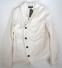 Authentic ANN DEMEULEMEESTER Off-White Cotton Wool Jacket S