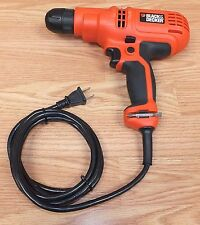 "Black & Decker (Dr260) 3/8"" 5.2 Amp 0-1500/Min Rpm Corded Drill w/ Trigger Lock"