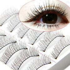 10 Pairs Natural Cross Handmade Soft Eye Lashes Makeup Extension False Eyelashes