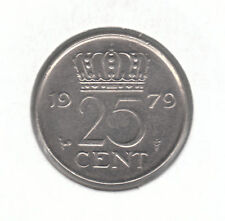 Netherlands 25 Cents 1979 Nickel Coin - Queen Juliana