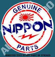 GENUINE NIPPON PARTS Decal Sticker Vintage JDM DRIFT RALLY DECALS STICKERS