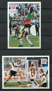 S6664) Dominica 1994 MNH World Cup Football '94 - S/S X 2