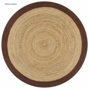 Braided Rug Round Reversible 3X3Feet 100% Natural Jute Handmade Style Modern Rug