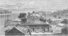 INDIA. Port Blair, South Andaman Island, antique print, 1867