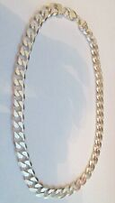 CUBAN LINK CURB CHAIN VERY HEAVY 13MM 20 INCH STERLING SILVER