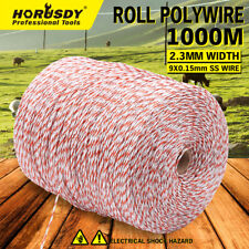 1000 Meter Polywire Electric Fence Energiser Stainless Steel Wire Fencing Tool