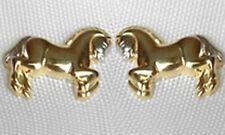 ECHT GOLD *** Pferd Kinder Damen Ohrstecker Ohrringe bicolor