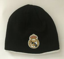 ccfd2037be5 Real Madrid Reversible Beanie Hat Black White Size Adults Brand New