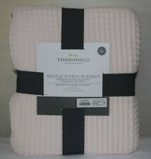 Shabby Chic Full/Queen Possibly Pink Waffle Cotton Blanket Warm Cozy Cottage~Nip