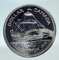 1979 CANADA UK Queen Elizabeth II Griffon Ship 300Y Proof Silver Coin i80829