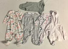 Lot Of 5 Size 9 Months Baby Girls Clothing Carter's One Pieces Hoodie And Shirt