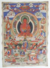 Large Antique Tibetan Buddhist Thangka. Hand Painted Masterpiece Museum Quality