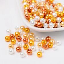 200 Glass Pearl Beads 6mm Assorted Fall Caramel Corn BULK Jewelry Supplies Mix