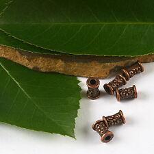 85pcs copper-tone flower tube spacer beads h2176