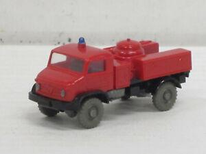 Mercedes-Benz Unimog Pulver-Löschwagen in rot Feuerwehr, ohne OVP, Wiking, 1:87