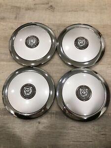 Genuine Jaguar Factory VANDEN PLAS Wheel Center Caps (4) MNC6240AA - USED