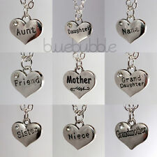 Silver Plated Love Round Costume Necklaces & Pendants
