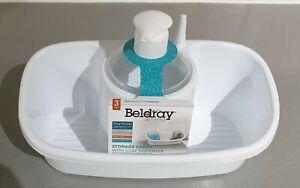 Beldray LA057419GREYEU Premium Storage Caddy with Soap Dispenser, White