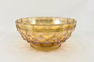 Rare Australian Banded / Heavy Diamond Carnival Glass Serving Bowl, c1920s