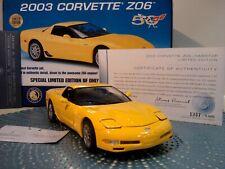 New ListingFranklin Mint 2003 Corvette Z06.1:24.Rare 50Th Ann.Le.Nib.Docs.Undisplay ed