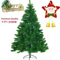 210CM 7FT CHRISTMAS X'MAS GIFT DECORATION TREE Pine with Metal Stand - GREEN