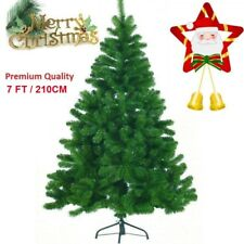 Traditional Green 7ft Christmas Tree Artificial Indoor Angel Pine Xmas Trees