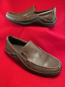 Cole Haan CO4059 Tucker Brown Leather Venetian Loafers Shoes Mens US Size 7 1/2M