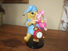 Disney Bedtime Pooh & Piglet Clock from Winnie The Pooh Rare statue figurine