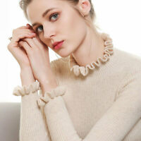 Women Knitted Flounce Turtleneck Cashmere Long Sleeve Jumpers Sweaters Gjxia