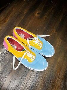 Vans Era Sneakers Bright Color Block Sz Mens 11.5 Blue/Orange/Pink