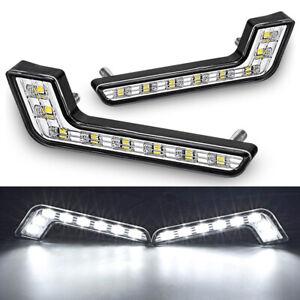 2X 8 LED Car DRL Daytime Running Light Driving Fog Light White for Mercedes Benz
