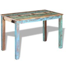 vidaXL Solid Recycled Timber Dining Table 115x60cm Kitchen Furniture Antique