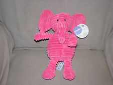 """12"""" Babies R Us Hot Pink Elephant Ribbed Chenille Stuffed Animal Plush Toy Cord"""