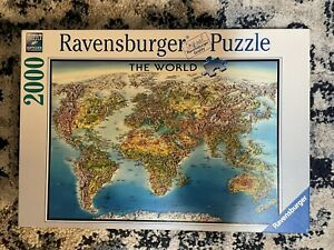 Ravensburger World Map 2000 Piece Jigsaw Puzzle Pre-owned, Complete | NO RESERVE