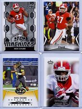 "(4) NICK CHUBB 2014/2018 LEAF DRAFT ""1ST EVER PRINTED"" 4 CARD ROOKIE LOT!"