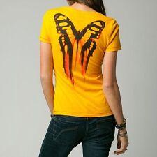 Fox Racing Women's Daze Vneck Tee Gold Size S