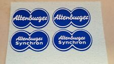 Stickers Decals for Vintage Altenburger Synchron Bicycle Brakes (Blue)