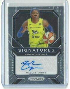 2021 WNBA PANINI PRIZM * ARIKE OGUNBOWALE * SIGNATURES AUTOGRAPH CARD WINGS
