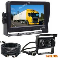 """4Pin 7"""" TFT LCD Car Monitor + IR Backup Rear View Camera for Motorhome RV Truck"""