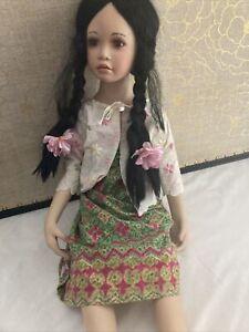 "Dwi Saptono Doll Limit Edit Porcelain  Master Piece Gallery Large28""-1999-Rare"